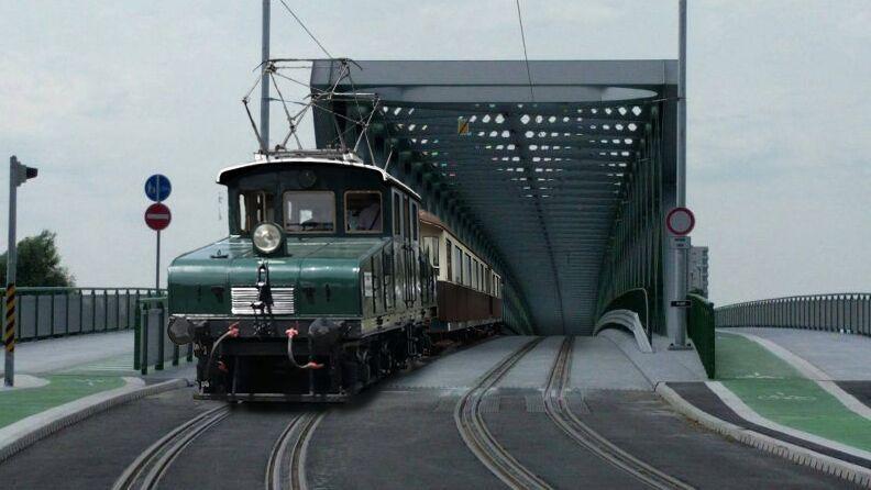 Viedenská električka prechádza Starým mostom